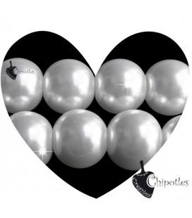 Perle 12 mm Vetro Cerato colore Bianco