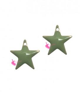 Ciondolo Stella Smaltata 11x12 mm colore Verde