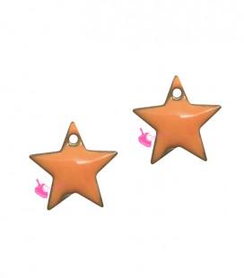 Ciondolo Stella Smaltata 11x12 mm colore Arancione