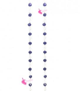 Catena Rosario con Rondelle 3 mm Mezzo Cristallo colore Blu (1 metro)
