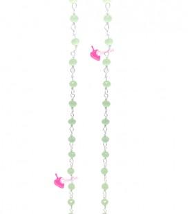 Catena Rosario con Rondelle 3 mm Mezzo Cristallo colore Verde Chiaro (1 metro)