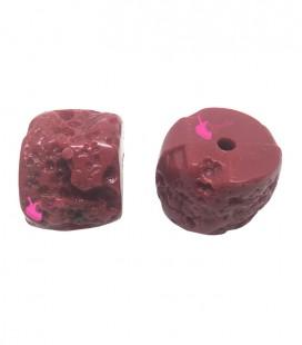 Perla Corallo Resina 23x18 mm colore Rosso