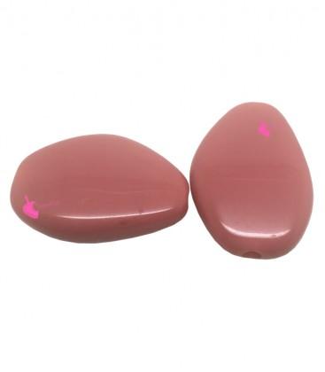 Perla Resina 38x27 mm colore Corallo