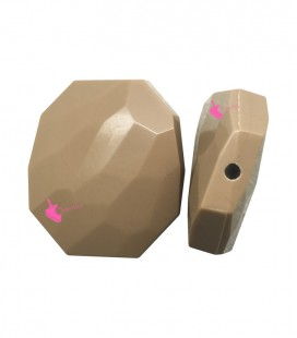 Perla Resina 41x35 mm colore Beige