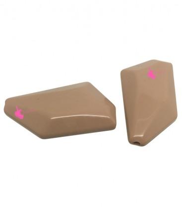Perla Irregolare Resina 47x31 mm colore Beige