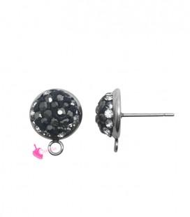Perni per Orecchini con Marcasite 10 mm (1 paio)