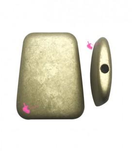 Perla Trapezio 40x32 mm Resina Oro Metallizzato