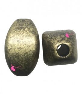 Perla Resina 30x23 mm Oro Metallizzato