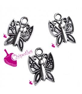 Ciondolo Farfalla 16x11 mm colore Argento Antico