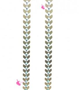 Catena Spina di Pesce Oro con Occhio Turco (50 cm)