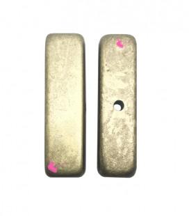 Perla Rettangolare Resina 12x42 mm Oro Metallizzato