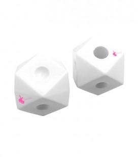 Perla Dado Resina 19x25 mm colore Bianco