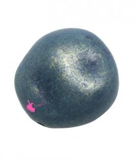 Perla Sasso Irregolare Resina 40x39 mm Blu e Oro Metallizzato