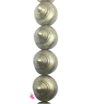 Perla Conchiglia 25x24 mm Resina Oro Metallizzato