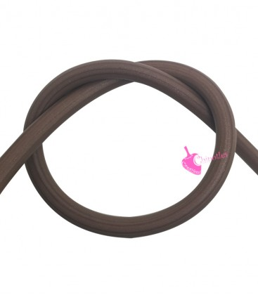 Cordoncino PVC Avana 4 mm Forato (1 metro)