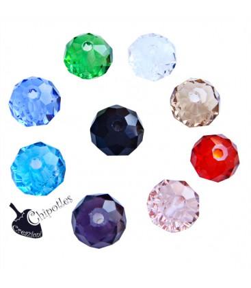Perle Rondelle Miste 8 mm Mezzo Cristallo