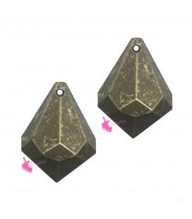 Perla Goccia Trottola Resina 26x18 mm Oro Metallizzato
