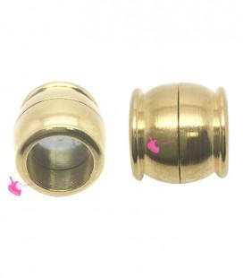 Chiusura a Calamita in Ottone 14x15mm (Ø 10 mm) colore Oro
