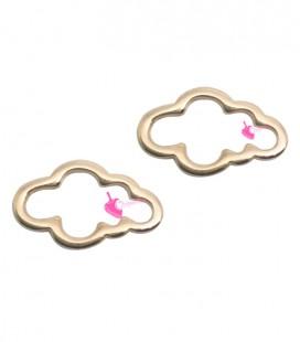 Ciondolo Nuvola 15x9 mm colore Oro Rosa