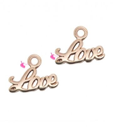 Ciondolo Love 10x13 mm colore Oro Rosa