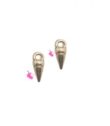 Ciondolo Punta Spike 8x3 mm colore Oro Rosa
