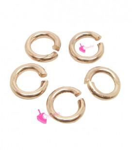Anellini Apribili 6 mm Ottone color Oro Rosa (50 pezzi)