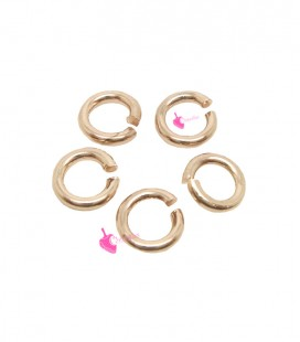 Anellini Apribili 4,5 mm Ottone color Oro Rosa (50 pezzi)