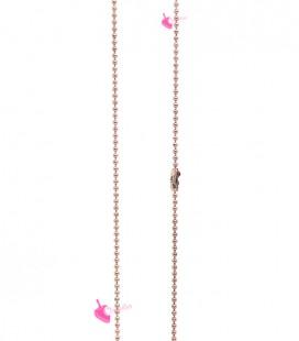 Catena Palline 1,2 mm con Chiusura Ottone colore Oro Rosa (1 metro)