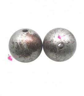 Perla Tonda Resina 16 mm Argento e Bronzo