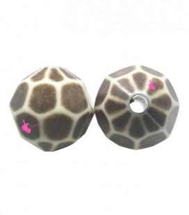 Perla Sfaccettata Resina 21 mm Maculata