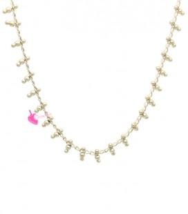 Catena con Perline Oro Opaco (50 cm)