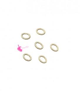 Anellini Ovali Apribili Ottone Oro Opaco 4x3 mm (50 pezzi)