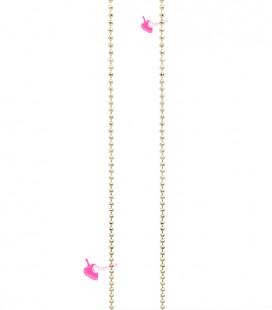 Catena Palline Diamantata 1,2 mm Ottone colore Oro (1 metro)