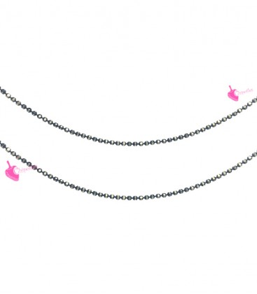 Catena Palline Diamantata 1,2 mm Nero e Oro (1 metro)