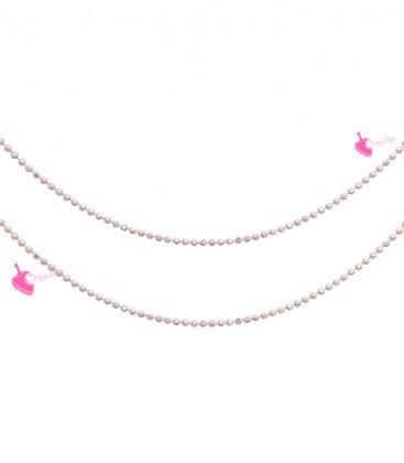 Catena Palline Diamantata 1,2 mm Rosa Antico e Oro (1 metro)