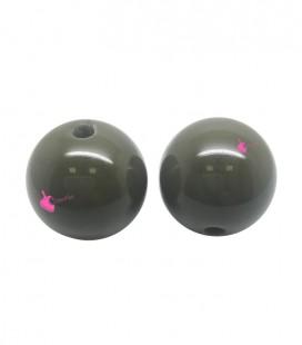 Perla Tonda Resina 20 mm colore Verde Scuro