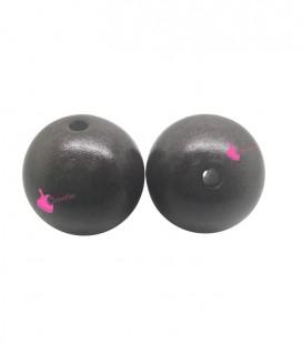 Perla Tonda Resina 22 mm colore Marrone Effetto Spray