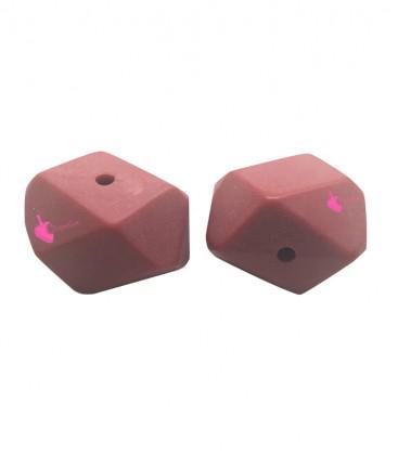 Perla Sfaccettata Resina 18x25 mm Rosso Opaco