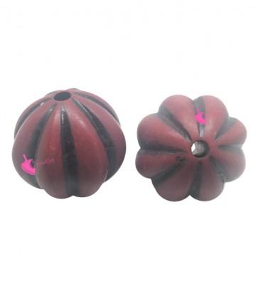 Perla Resina 27x28 mm colore Rosso e Nero