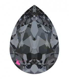 Goccia Swarovski® 4320 18x13 mm Crystal Silver Night Foiled