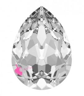 Goccia Swarovski® 4320 18x13 mm Crystal Unfoiled