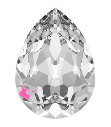 Goccia Swarovski® 4320 18x13 mm Crystal Unfoiled