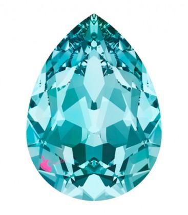 Goccia Swarovski® 4320 18x13 mm Light Turquoise Foiled