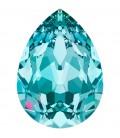 Goccia SW 4320 18x13 mm Light Turquoise Foiled