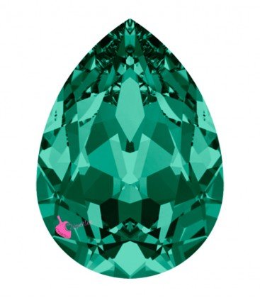 Goccia Swarovski® 4320 18x13 mm Emerald Foiled