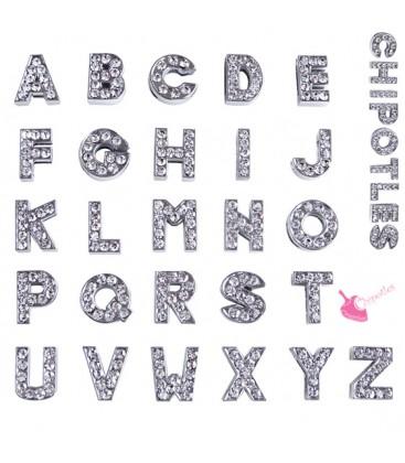 Perla Lettera Alfabeto con Strass
