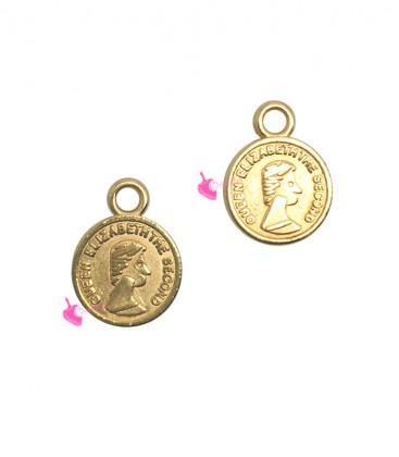 Ciondolo Moneta 8 mm colore Oro