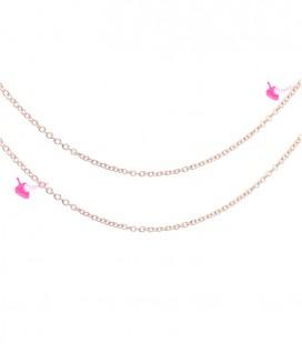 Catena 2x1,7 mm Acciaio Inossidabile colore Oro Rosa (1 metro)