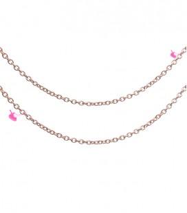 Catena 2,5x2 mm Acciaio Inossidabile colore Oro Rosa (1 metro)