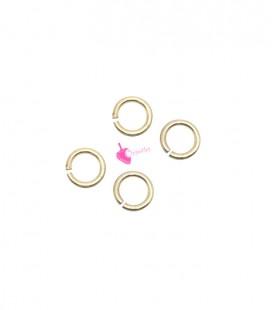Anellini Apribili 4 mm Acciaio Inox colore Oro Chiaro (5 grammi)